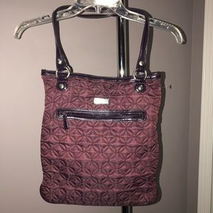 Vera Bradley City Light Wine / Burgandy Tote